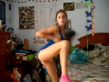Bored Teen Plays On Cam